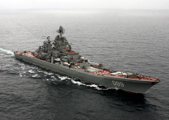 Eine Abteilung von Schiffen der Nordflotte steuerte auf die Arktis zu