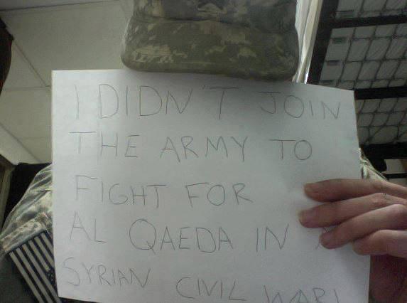 """""""इसके लिए नहीं, मैं सीरिया में अल-कायदा के लिए लड़ने के लिए सेना में गया था!"""""""