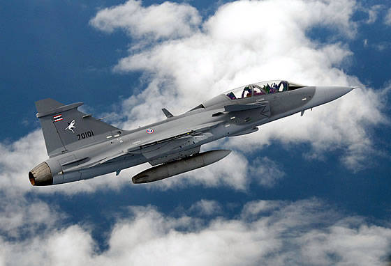 Sweden supplied the Thai Air Force last batch of Gripen JAS-39 fighters