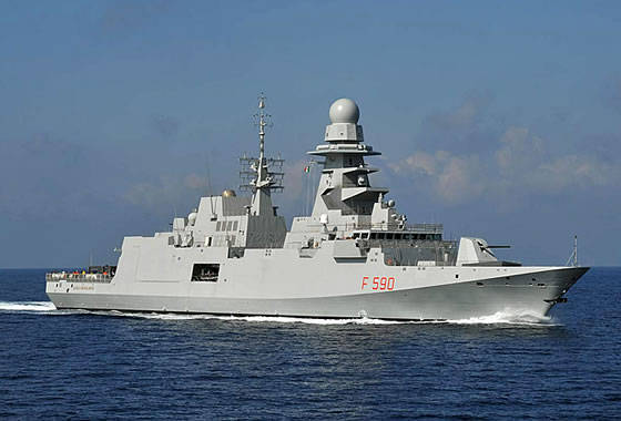 "At the shipyard ""Riva Trigoso"" laid the keel of the sixth frigate class FREMM for the Italian Navy"