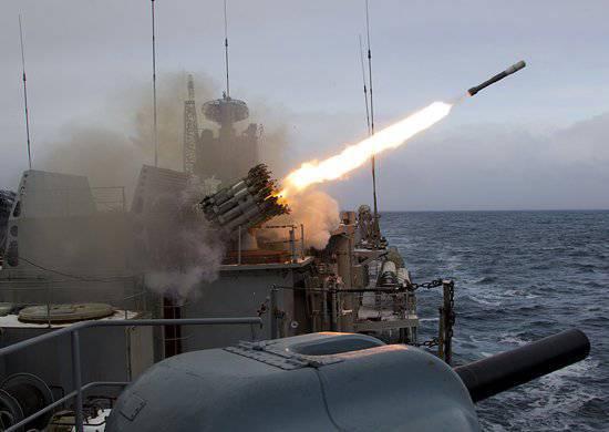 La flotta russa durante gli esercizi vicino alla costa della Siria stava praticando l'intercettazione dei missili da crociera