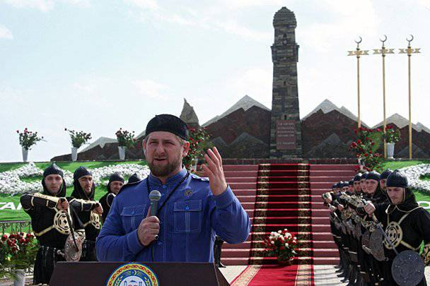 The head of Chechnya opened a monument to the heroines of the fight against Russian troops under the command of Yermolov