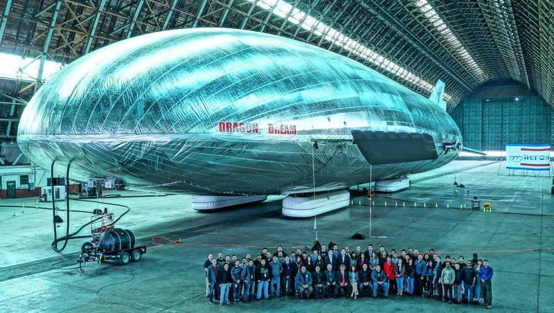 In the US, working on the creation of a large transport airship