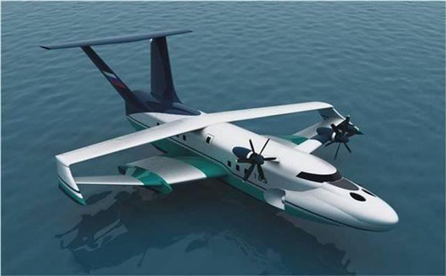 In Russia, lo sviluppo del passeggero ekranoplanov