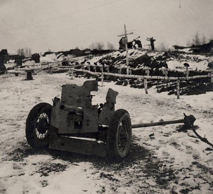 Anti-tank artillery of the Red Army. Part of 1