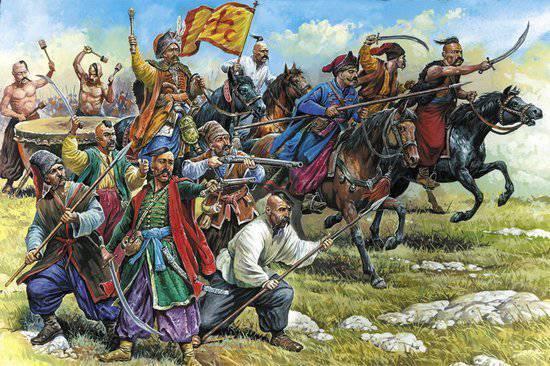 코삭 (Cossack) 군대의 헤트먼 (hesman) 대 모스크바 전직
