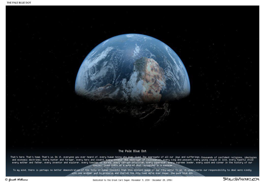 Фотография земли с расстояния 6 млрд
