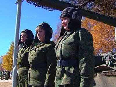 Российских женщин научат водить танки