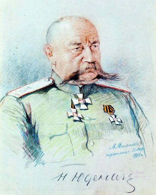 """""""Sadece ölmeye hazır olan bu hayata layıktır."""" Birinci Dünya Savaşı sırasında Rusya'nın en iyi generallerinden biri olan Nikolai Nikolayevich Yudenich"""