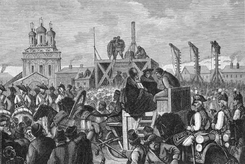 Der Aufstand von Pugatschow und die Beseitigung der Dnepr-Kosaken durch Kaiserin Katharina