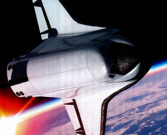 Unknown space. Light Space Plane (LKS) Chelomey