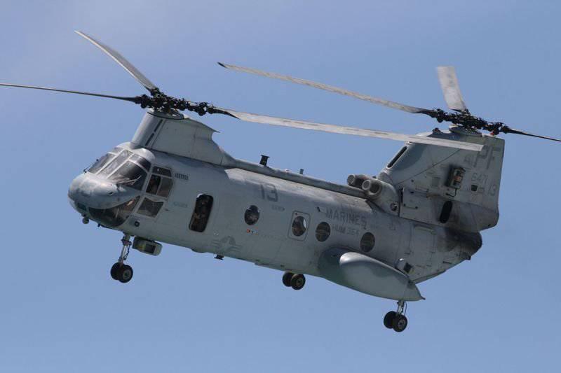 CH-46E Sea Knight helicopters will soon retire