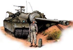 """T28 भारी टैंक (जिसे T95 स्व-चालित बंदूक के रूप में भी जाना जाता है), संयुक्त राज्य अमेरिका, 1945 वर्ष। युद्ध की शुरुआत में, यूएस डिजाइनरों ने भारी टैंक के क्षेत्र में """"चोट"""" नहीं बनाई।"""