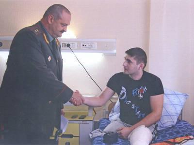 Военнослужащий внутренних войск награжден орденом Мужества