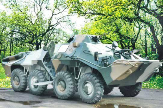 "Command and staff vehicle ""Svityaz"" based on BTR-70Di-02"