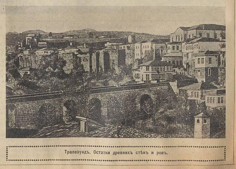 Vitórias do exército de Yudenich perto de Trapezund e Erzincan