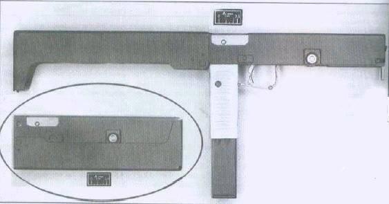 Folding submachine guns