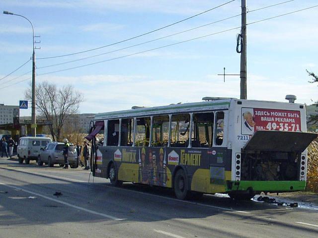 वोल्गोग्राद बस में एक आत्मघाती हमलावर ने विस्फोट किया
