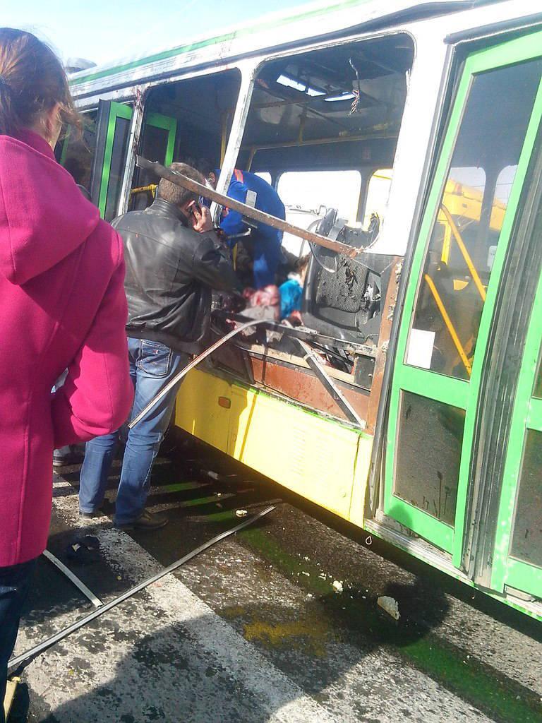 """October 21, 14: 05, Volgograd, stop """"Lesobaza"""""""