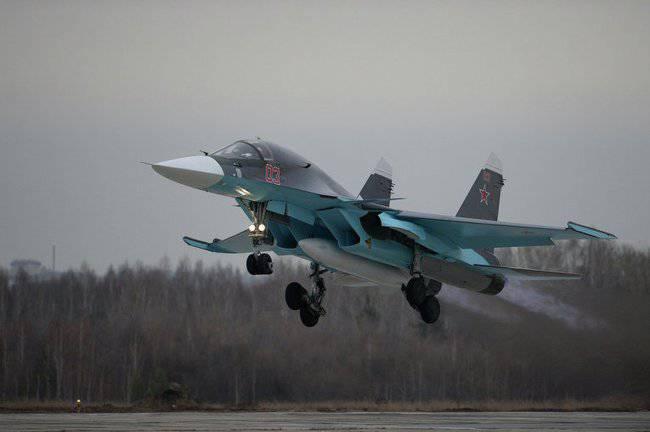 Die russische Luftwaffe erhielt eine weitere Charge von Su-34-Bombern