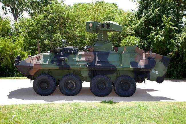 Improved Tou system for LAV-AT infantry fighting vehicle USMC