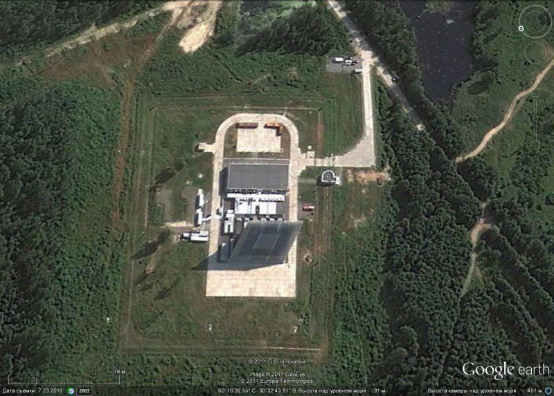 Российский военный потенциал на спутниковых снимках Google Earth