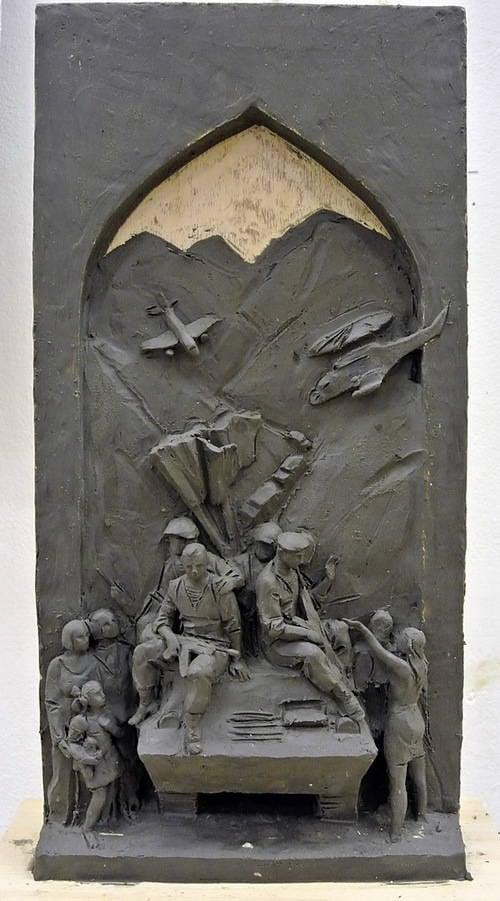 Monumento dedicado ao 25 aniversário da retirada das tropas soviéticas do Afeganistão selecionado