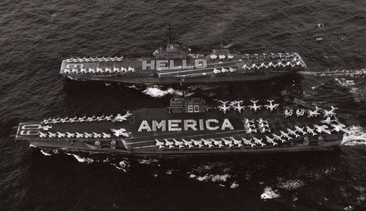 Capacidades y tácticas de los grupos de transportistas de la Marina de los EE. UU. En 1960-1970.