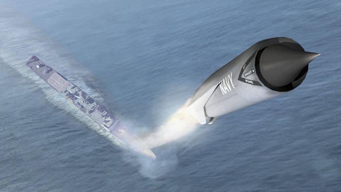 미국의 실험용 극 초음속 항공기. 1의 일부