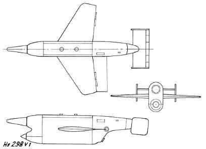 空対空ミサイルヘンシェルHs-298(ドイツ)