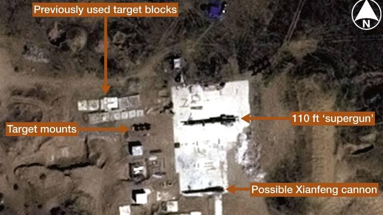 """Publication de photos satellites de mystérieux """"superguns"""" chinois"""