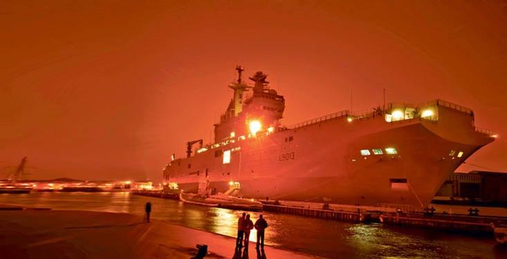 """Schande genannt """"Mistral"""". Dieses Schiff ist ein Fremdkörper in der russischen Marine."""