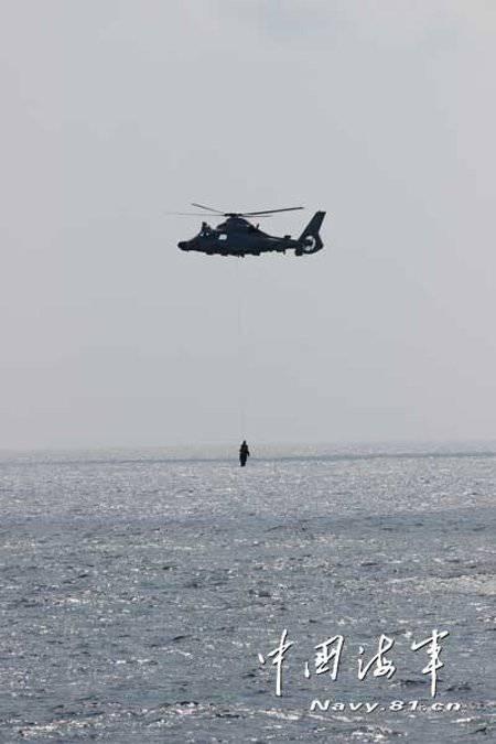 Naves de las fuerzas navales de China y Ucrania realizaron ejercicios conjuntos.
