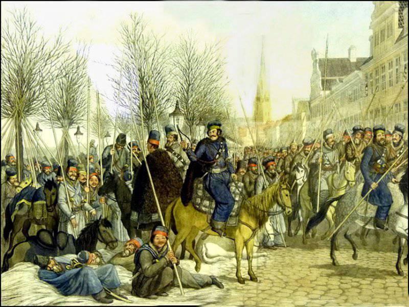 Kosaken im 1812 des Jahres. Teil III. Auslandsreise