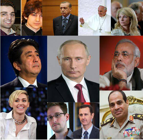 "Fight for the title of ""Man of the Year"": Vladimir Putin against former CIA agents, politicians, terrorists and female singers"