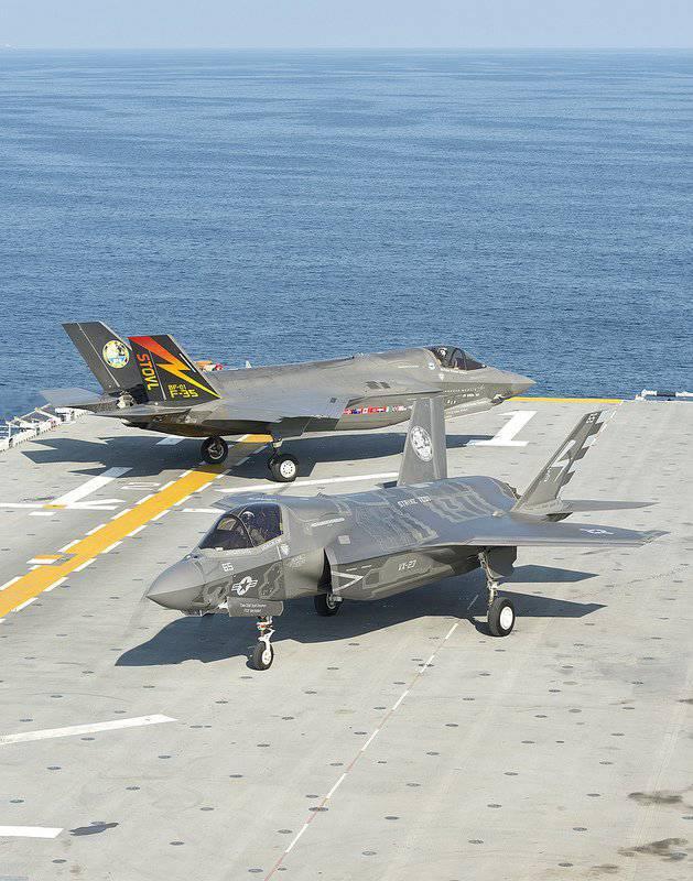 Essais marins F-35B