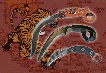 Karambit - garra de aço de um tigre
