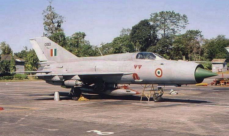India decidió retirarse de los combatientes de la fuerza aérea MiG-21FL