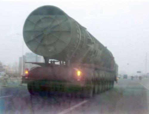 China está desarrollando un ICBM basado en misiles similar al bisturí