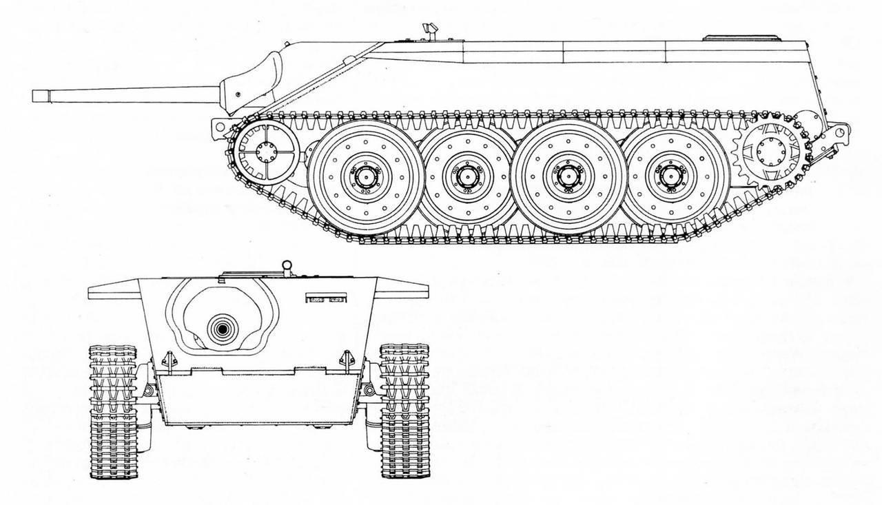 Танков е 10 вид слева и спереди