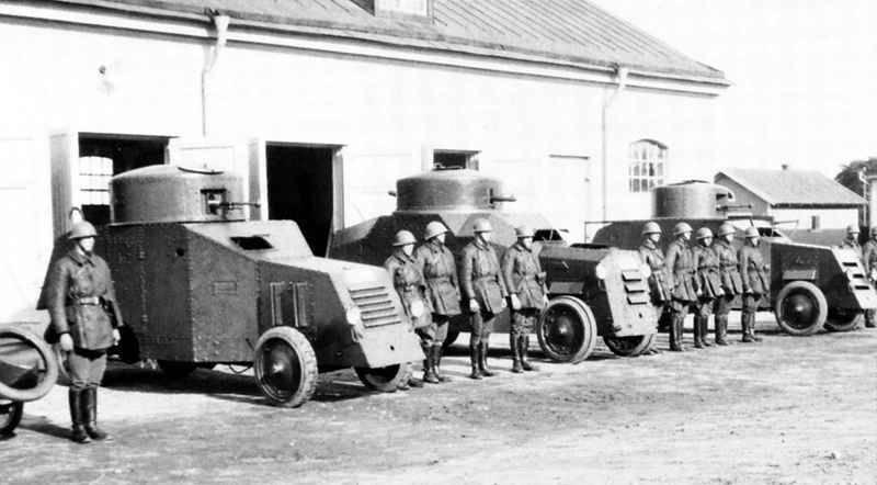 瑞典的装甲车。 第一部分