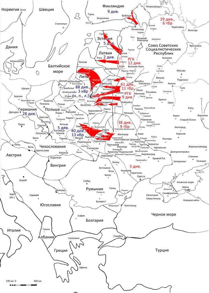 소련 제 2 차 세계 대전 직전 전략 계획. 1의 일부. 반격과 선제 공격