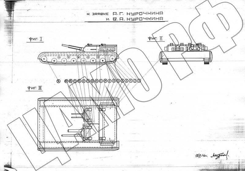 Проект танка-истребителя типа «Пластун»