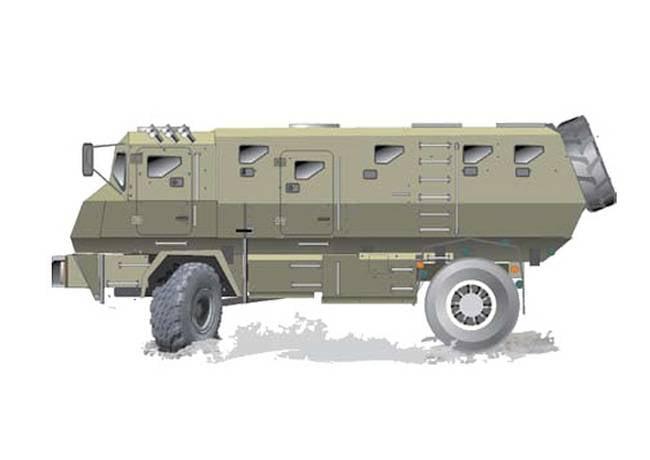 KrAZ yeni bir zırhlı araç geliştiriyor