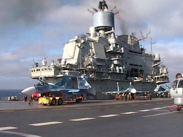 俄罗斯航空母舰在地中海遭遇风暴