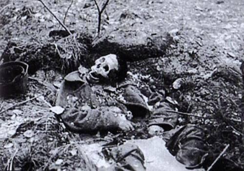 Há muito tempo atrás, na primavera de 1940, quando a neve começou a derreter, os moradores encontraram os corpos em decomposição do Exército Vermelho. http://pictures-of-war.livejournal.com/127505.html