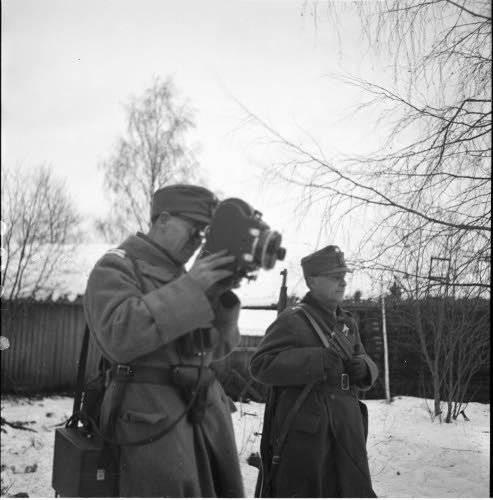 Correspondente de guerra. Suomussalmi, Dezembro 1939 do ano. Fotos do arquivo finlandês da Guerra de Inverno http://sa-kuva.fi