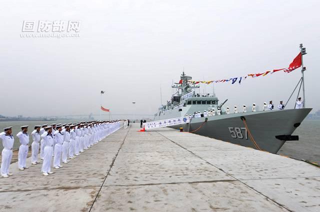 中国舰队获得了第十个护卫舰项目056