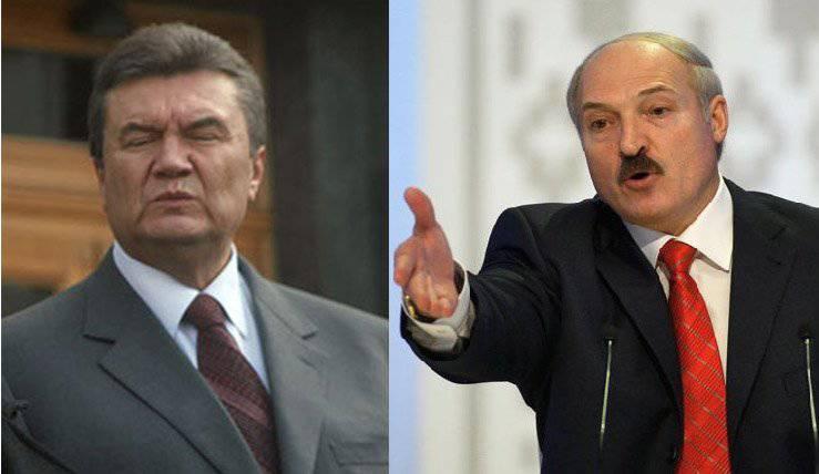"""卢卡申科为亚努科维奇的远程课程,或者如果今天在基辅有""""父亲""""的话?"""