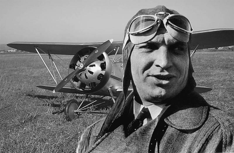 In the sky - Chkalov. 110 Birth Anniversary